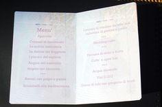 passport wedding menu - menu matrimonio passaporto (impronte sule nuvole)