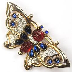 Trifari 'Alfred Philippe' Moghul Butterfly Pin, 1949