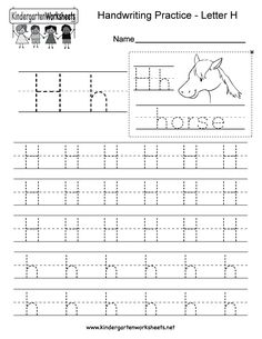 "This is a letter H tracing worksheet. Children can trace uppercase and lowercase letters and the word ""horse."" You can download, print, or use it online. English Worksheets For Kindergarten, School Worksheets, Free Printable Alphabet Worksheets, Free Printables, Handwriting Practice Worksheets, Uppercase And Lowercase Letters, Lower Case Letters, Board Games, Horse"