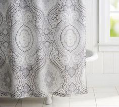 Beale Paisley Print Shower Curtain