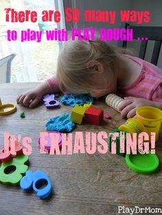 so many ways to play with playdough!