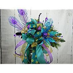Your place to buy and sell all things handmade Purple Christmas Ornaments, Christmas Swags, Christmas Centerpieces, Christmas Tree Toppers, Christmas Decorations, Diy Tree Topper, Purple Trees, Poinsettia Flower, Complimentary Colors