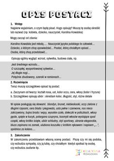 Learn Polish, Polish Language, School Subjects, School Notes, Study Notes, Study Motivation, Grammar, Storytelling, Back To School