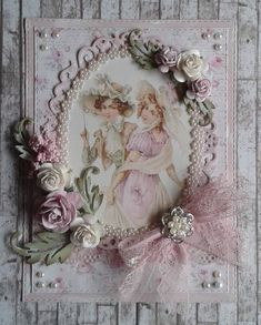 Scraps and more. Shabby Chic Cards, Anna Griffin Cards, Frame Crafts, Mothers Day Cards, Heartfelt Creations, Photo Craft, Card Tags, Greeting Cards Handmade, Vintage Cards