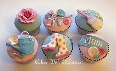 #Mothers Day Cupcakes - For all your Mother's Day supplies, please visit http://www.craftcompany.co.uk/occasions/mothers-day.html