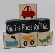 Oh The Places You'll Go-Transportation - Airplanes - Children | Blocks Upon a Shelf