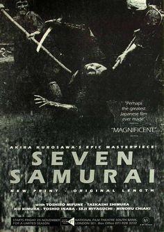 SEVEN SAMURAI.....1954.....PARTAGE OF JUST LOVE JAPAN ....ON FACEBOOK.......