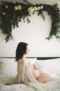 Intimate maternity photos by Lace and Likes and Siren Floral Co.   Photos by Keith Savage   100 Layer Cakelet