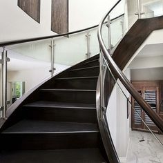 Contemporary Staircases Design Ideas, Pictures, Remodel and Decor
