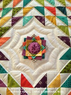 = free pattern = Chevron Shuffle mini quilt by Karen L. Miller for Moda Bakeshop