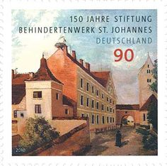 Stamp: Foundation for people with disabilities (Germany, Federal Republic) Anniv. of St. John Foundation for the Disabled) Mi:DE 3689 German Stamps, Johannes, Postage Stamps, Foundation, Germany, Sorting, Eagles, Label, Seals