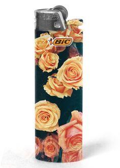 Floral Bic Lighter