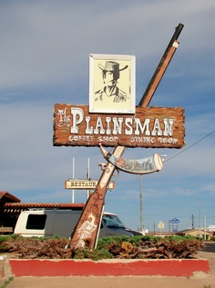The Plainsman Americas Classic Route US Road Trip Rest Stop 49 miles. Classic pin board by Asher Socrates. Old Route 66, Route 66 Road Trip, Travel Route, Road 66, Station Essence, Historic Route 66, Vintage Neon Signs, Roadside Attractions, Hotels