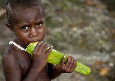 Papaya in Papua - Bougainville Papua New Guinea