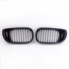 Car Accessories 2Pcs Car Front Grill Gloss Black Kidney Front Grille for BMW E46 3 Series 4 Door 2002-2005 #Affiliate