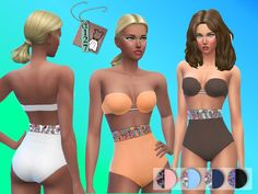 The Sims Resource: Crystals Swimsuit by Atea127 • Sims 4 Downloads