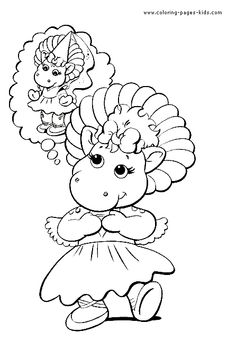 Printable Coloring Pages Barney
