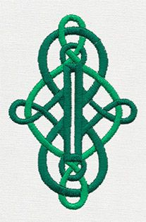 Buttoned Up - Celtic Knot Buttonhole | Urban Threads: Unique and Awesome Embroidery Designs