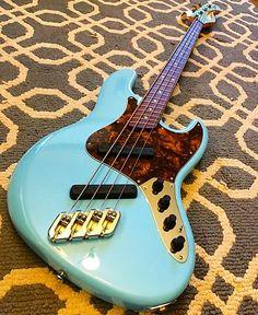 """773 Likes, 5 Comments - Bass Player Magazine (@bassplayermag) on Instagram: """"A Dingwall Super J Bass in Sonic Blue. @dingwallguitars #bassgram #instabass #bassporn #bassplayer…"""""""