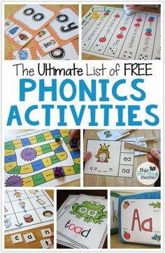 Teach Your Child to Read - The Ultimate List of FREE Phonics Activities - listed by phonics skill level - This Reading Mama - Give Your Child a Head Start, and.Pave the Way for a Bright, Successful Future. Phonics Reading, Teaching Phonics, Teaching Reading, How To Teach Phonics, Phonics Lessons, Reading Games, Free Phonics Worksheets, Teaching Resources, Phonics Lesson Plans