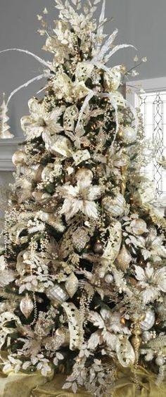25 sapins de Noël joliment décorés pour s\u0027inspirer ! Pinterest - white christmas tree decorations
