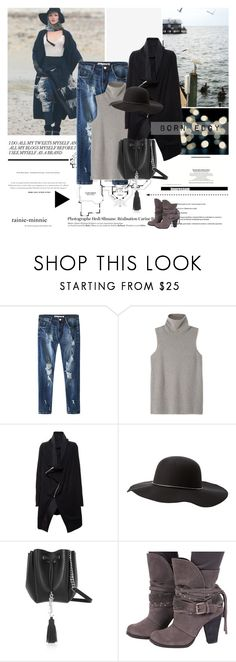 """""""Born Edgy"""" by rainie-minnie ❤ liked on Polyvore featuring Kershaw, Hedi Slimane, The Row, Rick Owens, Charlotte Russe and Yves Saint Laurent"""
