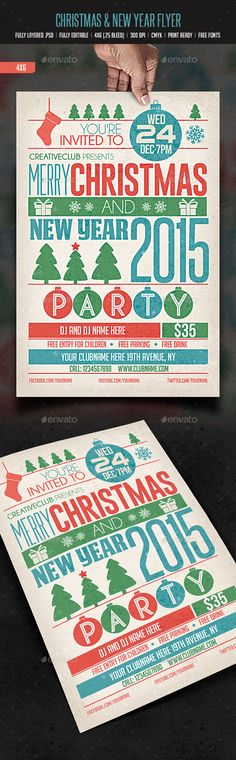 Christmas & New Year Party - Events Flyers