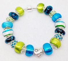 Mom European Style Bracelet by Graceandliz on Etsy, $15.00
