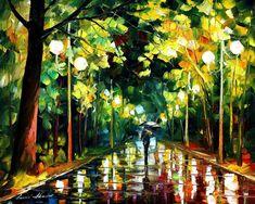 Romantic mood by Leonid Afremov by Leonidafremov on DeviantArt