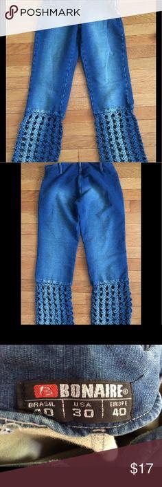 Bonaire Crochet Leg Jeans Size 30 x 30 Bonaire Crochet Leg Jeans Size 30 x 30 Bonaire Jeans Flare & Wide Leg