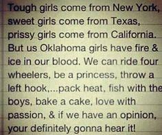 Oklahoma Girl Quote