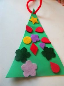 This tactile Christmas tree craft is great for blind children or children with multiple disabilities. It's easy and accessible and you can also change the ornaments on your tree throughout the season!