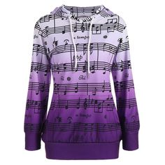 Musical Notes Printed Ombre Kangaroo Hoodie Cheap Fashion online retailer providing customers trendy and stylish clothing including different categories such as dresses, tops, swimwear. Hoodie Sweatshirts, Printed Sweatshirts, Jugend Mode Outfits, Teen Fashion Outfits, Ladies Fashion, Men Fashion, Sweat Shirt, Ideias Fashion, Clothes For Women