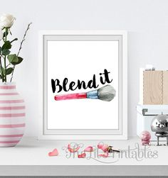 ❣ Please check our announcements tab for coupon codes! ❣ Blend it Makeup Printable ❥ No physical item will be shipped to you. You are