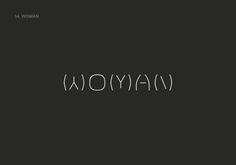 Woman   Minimalist Type Logo Idea