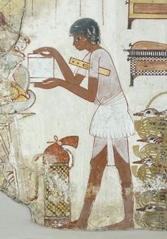 ♔ Painting from the tomb chapel of Nebamun, who was the nobleman and a court official of Amenhotep III ~ 18th Dynasty - 1350 BC