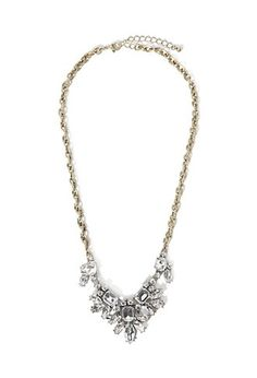 Clustered Rhinestone Statement Necklace | Forever 21 - 1000156177