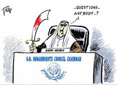 NOT a joke or irony: Saudi Arabia - Who just executed 47 people - is  the head of the United Nations' Human Rights Panel.  WTF?