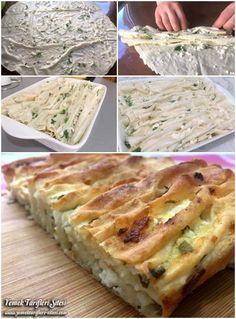 Hazır Yufkadan Pileli Börek Tarifi – Kurabiye – Las recetas más prácticas y fáciles Grilling Recipes, Lunch Recipes, Cooking Recipes, Healthy Recipes, Iftar, Bulgur Salad, Puff Pastry Recipes, Pastry Cake, Arabic Food