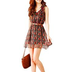 Allegra K Women Self Tie Bowknot Shoulder Flower Print V Neck Dress, http://www.amazon.com/dp/B007W9ZV3S/ref=cm_sw_r_pi_awd_GIeqsb06PK0CV