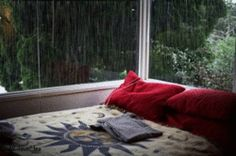sleepy rainy    I'd love to sit there and just drink my tea, listening to the rain