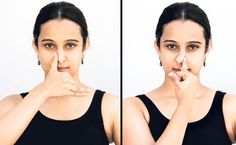 nadi shuddhi : use this hand mudra (shape of the hand) for alternate nostril breathing