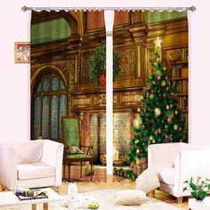 #beddinginn #reviews #beddinginnreviews #3D #curtain Christmas Tree Polyester 3D Blackout Curtain - beddinginn.com