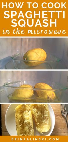 Learn how to microwave spaghetti squash quickly and easily in this post! This is such a simple way to cook spaghetti squash, and much faster than baking it in the oven. You'll love this cooking hack!