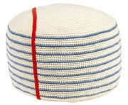 Notebook pouffe Blue and white striped | Pouffe Anne-Claire Petit