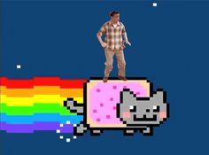 Dancing on Nyan Cat: | Chandler Bing Dancing On Things