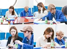 So Ji Sub & Lee Yeon Hee at 'Ghost' Script Rehearsal.