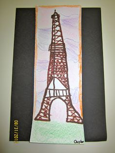 Amazing Art Adventures : Eiffel Towers plus printmaking (3rd grade)