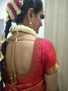 Not to look like this Wedding Saree Blouse Designs, Pattu Saree Blouse Designs, Blouse Designs Silk, Saree Blouse Patterns, Wedding Blouses, Maggam Work Designs, Simple Blouse Designs, Blouse Models, Work Blouse