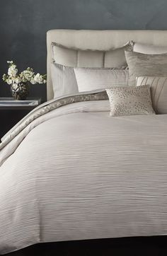 Free shipping and returns on Donna Karan 'Reflection' Duvet Cover (Online Only) at Nordstrom.com. Create a serene and sophisticated retreat with this elegant duvet cover fronted with softly textured silk-blend jacquard that evokes a soothing, rippling water effect.